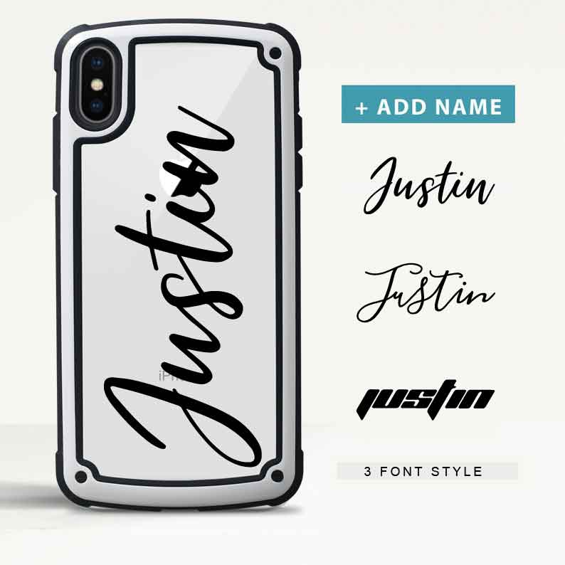Custom Armor iPhone Case with Name