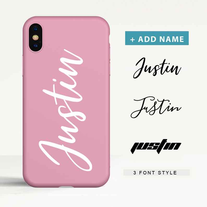 Custom Color Tpu iPhone Case with Name