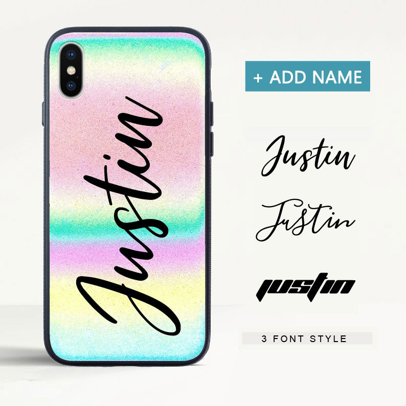 Custom Reflective Gradient iPhone Case with Name - icreatifes