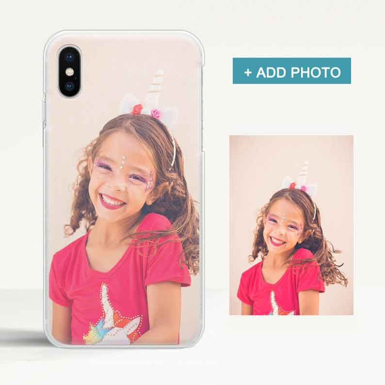Custom Clear iPhone Case with Photo - icreatifes
