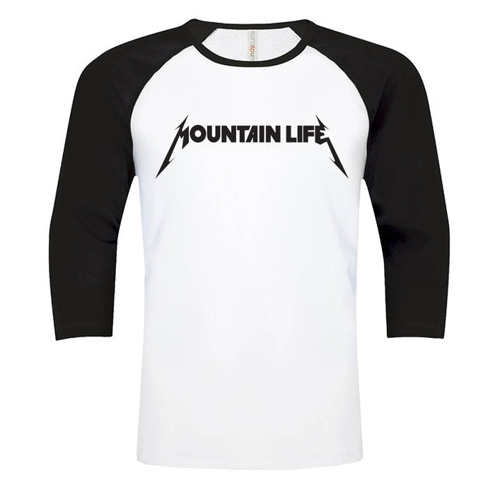 Mountallica - Rocker tee - s / Baseball White w/ Black