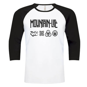 Led Mountain - Rocker Tee - s / Baseball White w/ Black