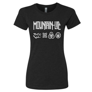 Led Mountain - Women's Series Rocker Tee - s / T Shirt Black