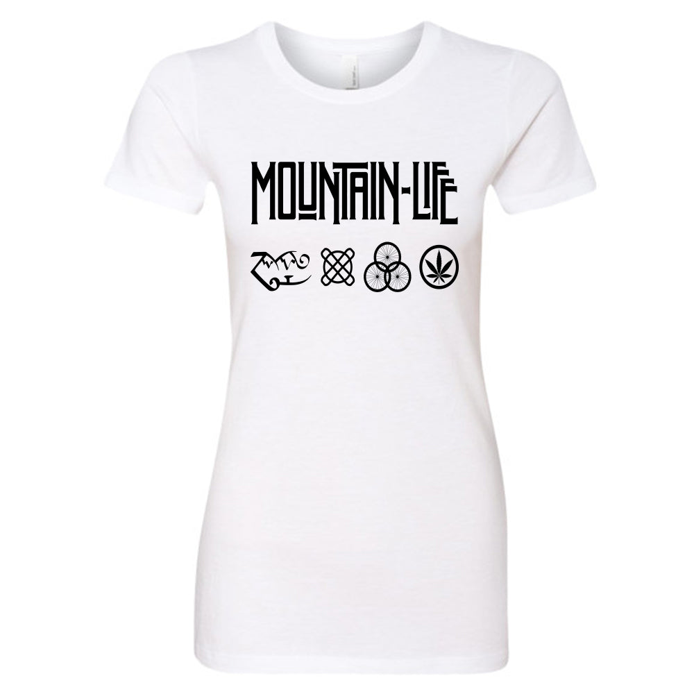 Led Mountain - Women's Series Rocker Tee - s / T Shirt White