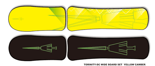 TORINITY-DC YELLOW CAMBER WIDE BOARD SET