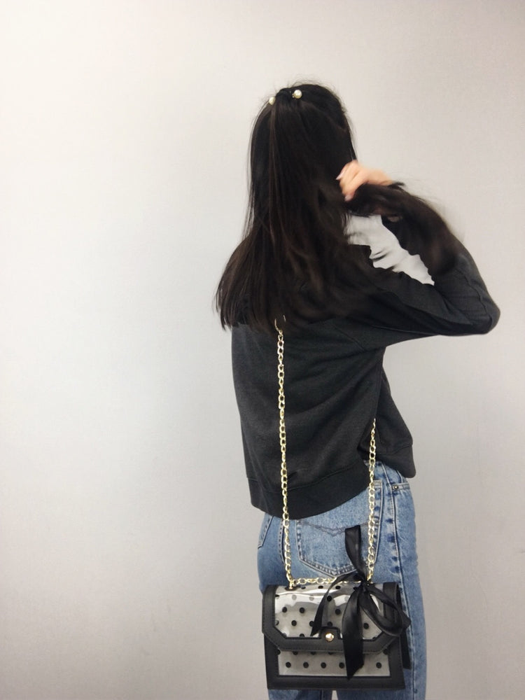 CROSSBODY CLEAR DOTS Black Small Bag