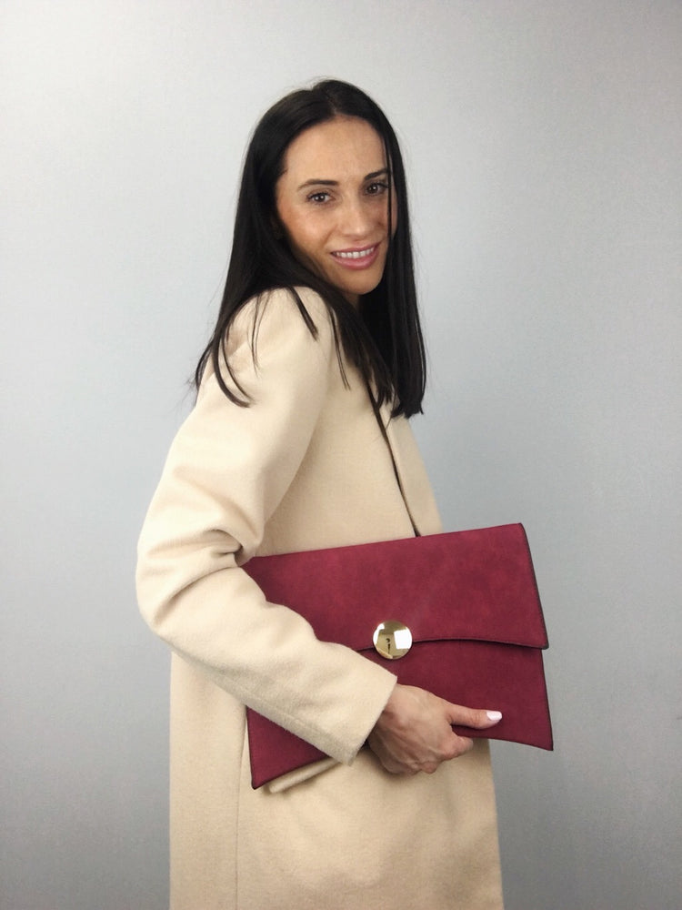 DAILY OFFICE CLUTCH High Quality Faux Leather Wine Bag