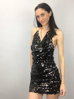 GLAMOROUS PLUNGING NECKLINE BACKLESS Sequin Dress