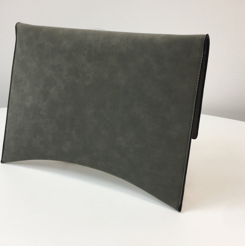 DAILY OFFICE CLUTCH High Quality Faux Leather Grey Bag