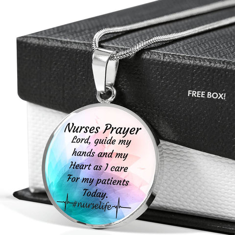 Nurse Prayer Circle Pendant