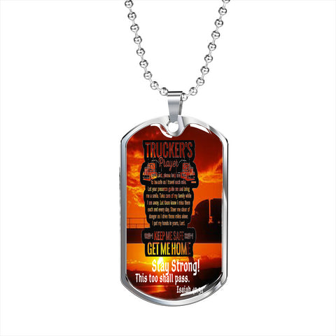 Truckers Prayer Custom Dog Tags