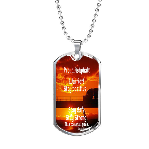 Trucker Gifts, Asphalt Warrior Trucker Dog Tags