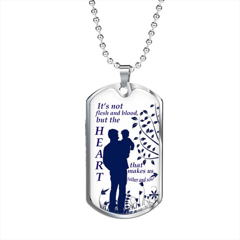 Stepson To Stepdad Personalized Dog Tag, Bonus Dad Gift Idea