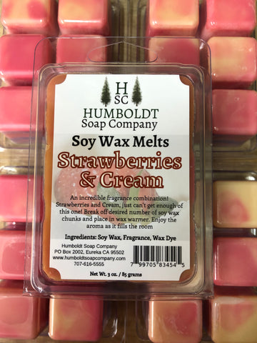 Strawberries and Cream Soy Wax Melt