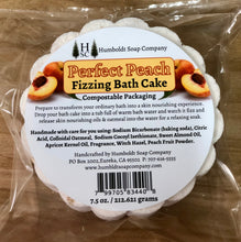 Load image into Gallery viewer, Perfect Peach Fizzing Bath Cake