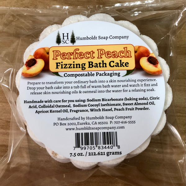 Perfect Peach Fizzing Bath Cake