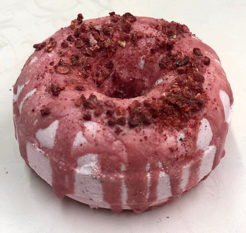Raspberry Donut Bath Bomb
