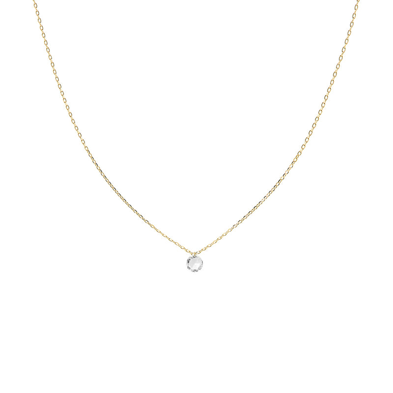 Gold Single Large Diamond Necklace