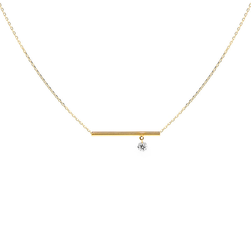 Gold Bar and Diamond Necklace