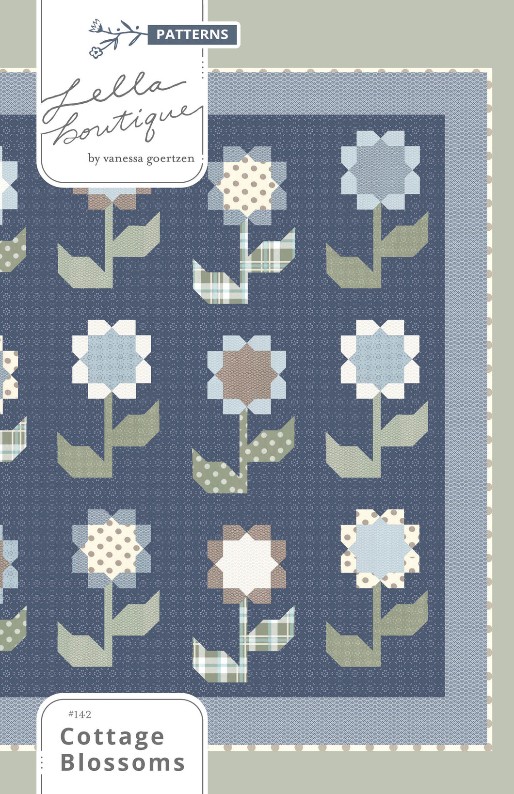 #142 Cottage Blossoms - PDF Pattern
