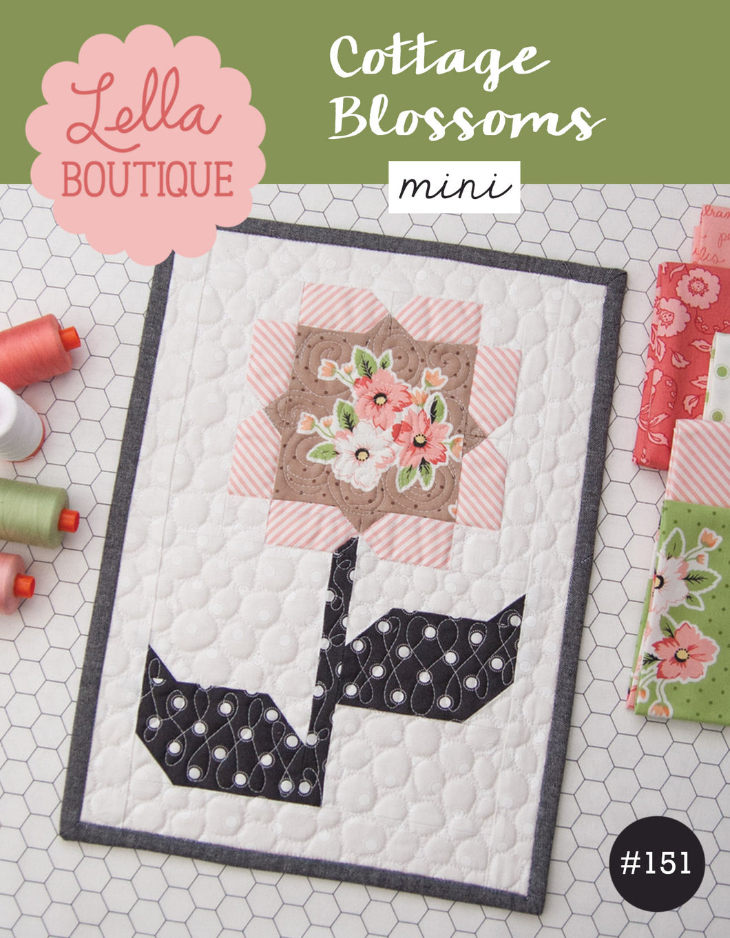 #151 Cottage Blossoms Mini - PDF Pattern