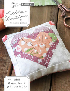 #175 Mini Open Heart Pin Cushion - PDF Pattern