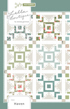 Load image into Gallery viewer, Haven star block quilt pattern by Lella Boutique. Make it with fat quarters. Fabric is Love Note by Lella Boutique for Moda Fabrics.