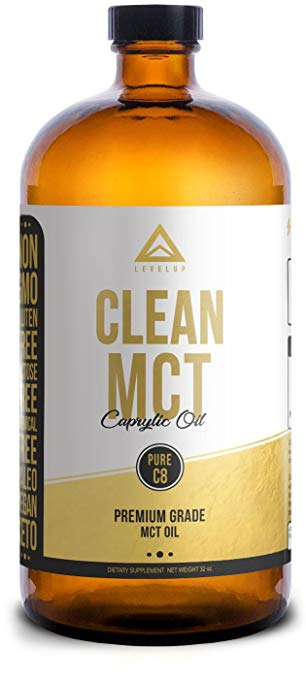 【LevelUp】Clean C8 MCT Oil/Glassware/946ml - Kootw
