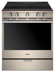 Whirlpool YWEEA25H0HN  30-INCH,6.4 CU FT, TRUE CONVECT ELECTRIC FRONT CONTROL RANGE WITH 5 ELEMENTS,CERAN, FULL COLOUR LCD, HIDDEN BAKE,AQUALIFT