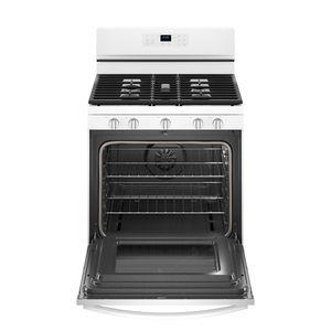 Whirlpool WFG550S0HW  30-INCH,5 CU FT, GAS FREESTANDING FAN CONVECTION RANGE WITH 5 BURNERS,HIDDEN BAKE,SELF CLEAN,FROZENBAKE