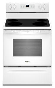 Whirlpool YWFE521S0HW  30'' ELECTRIC FSR 5.3 CU.FT ,4 COOKTOPTOP,CERAN, TRUE CONVECT,SELF CLEAN, STORAGE DRAWER,FROZEN BAKE