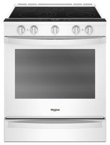 Whirlpool YWEE750H0HW  30-INCH,6.4 CU FT, TRUE CONVECT ELECTRIC FRONT CONTROL RANGE WITH 5 ELEMENTS,CERAN, FULL COLOUR LCD, HIDDEN BAKE,AQUALIFT