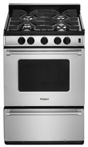 Whirlpool WFG500M4HS  24'' GAS FREESTANDING RANGE, 4 COOKTOP BURNERS