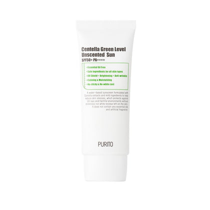 PURITO Centella Green Level Unscented Sun SPF50+ PA++++ (60mL) - Skiskin
