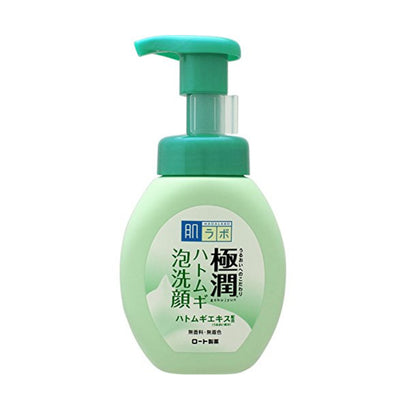 Hada Labo Gokujyun Hatomugi Bubble Foaming Face Wash (160mL) - Skiskin