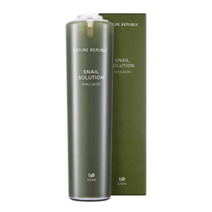 NATURE REPUBLIC Snail Solution Emulsion (120mL) - Skiskin