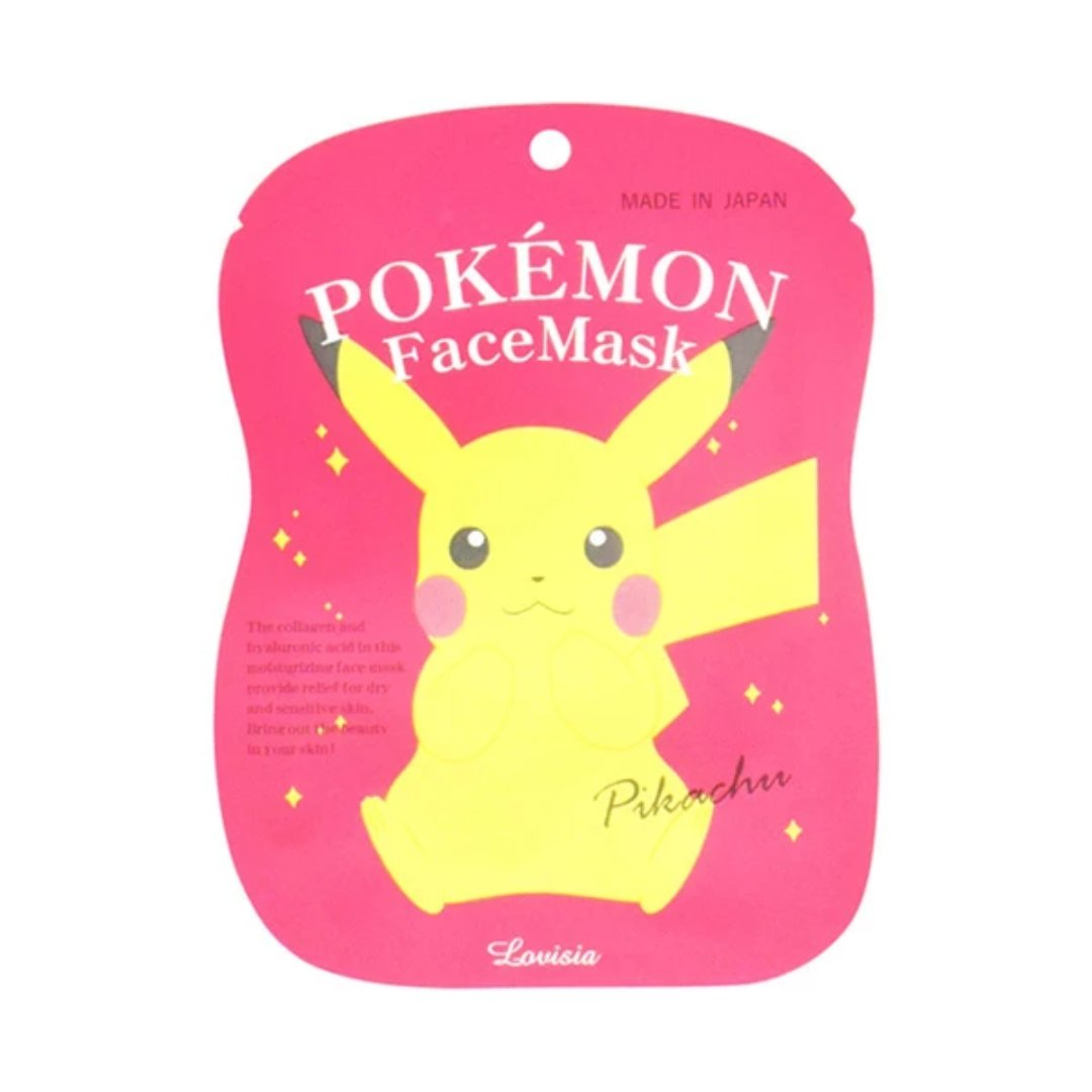 Pokémon Face Mask Pikachu: A Perfect Gift (1 sheet, 20mL)