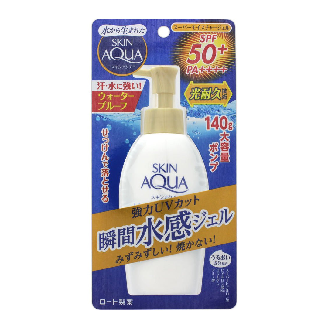ROHTO Skin Aqua UV Super Moisture Gel SPF50+/ PA++++ with Pump (140 g)