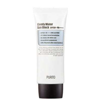 PURITO Comfy Water Sun Block SPF50+ PA++++ (60mL) - Skiskin