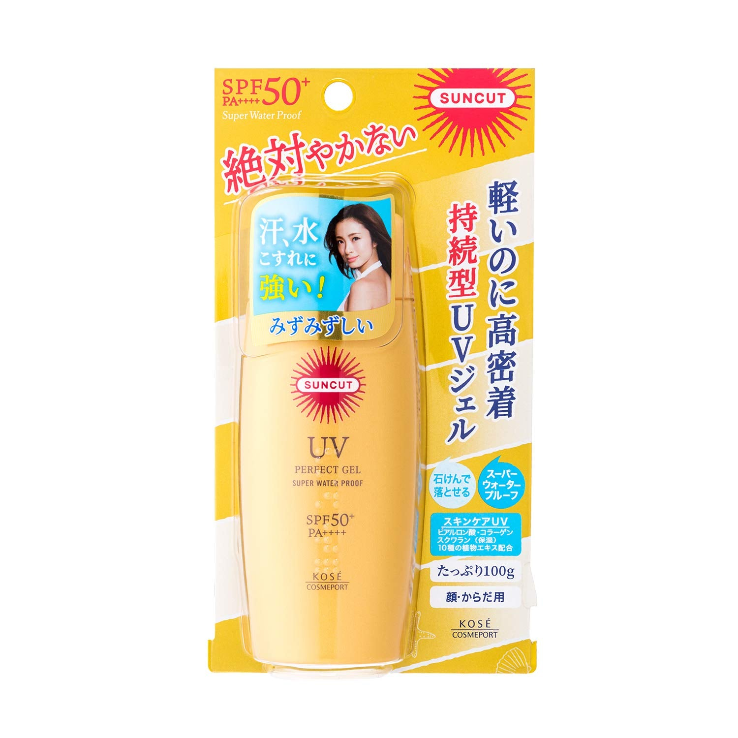 KOSE Suncut Perfect UV Gel SPF50+ P++++ (Fragrance Free)