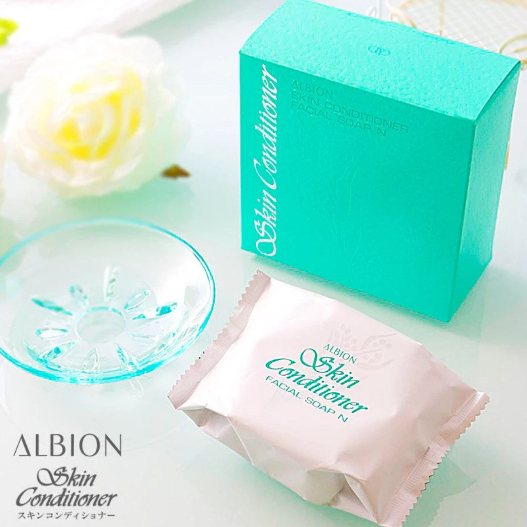 Albion Skin Conditioner Facial Soap N with soap dish (100g)
