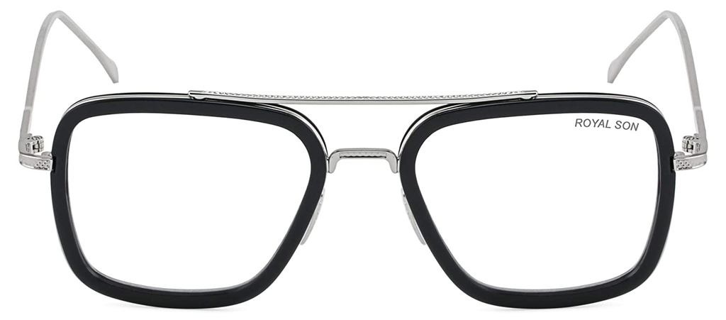 Tony Stark Glasses - Black and Silver Iron Man Glasses