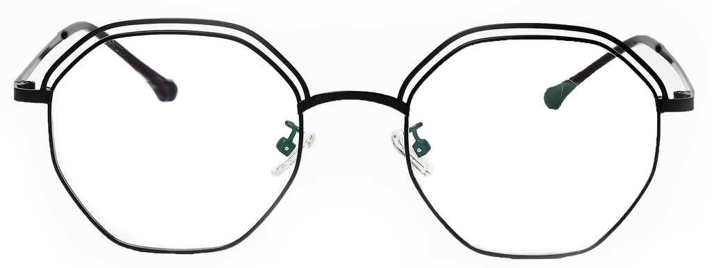 Hexagonal eyeglasses <br> SGF-24