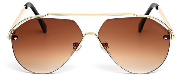 Brown aviators- classy shape and look