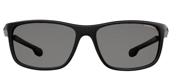 Men's  Rectangular Sunglasses, Black/Dark Gray Gradient