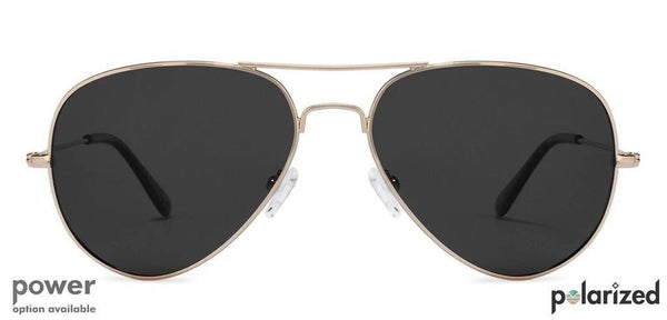 Stylish black aviator with the touch of gold