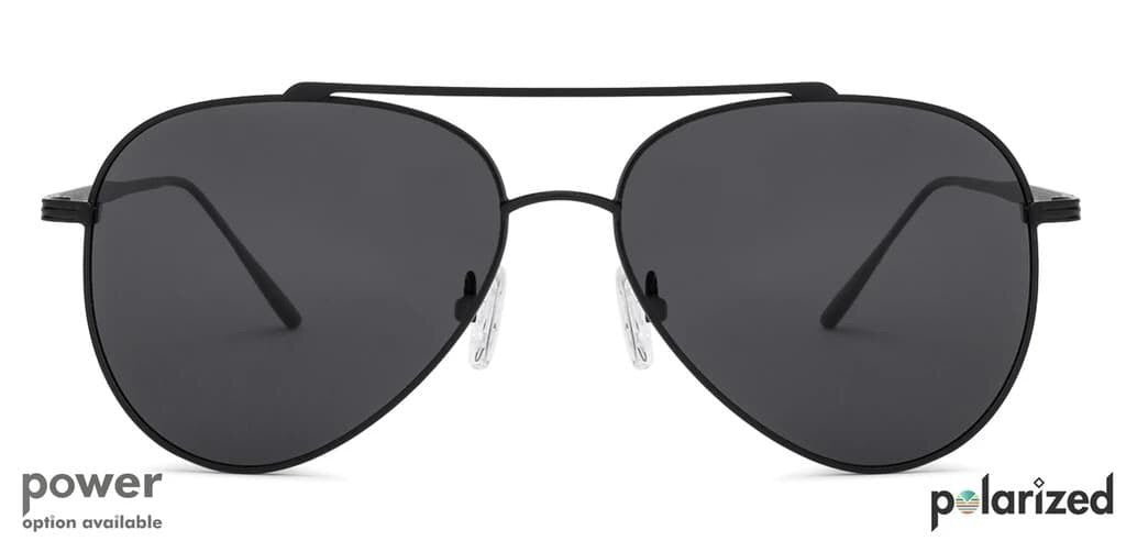 The aviator with the classic black touch and lasting metal frame.