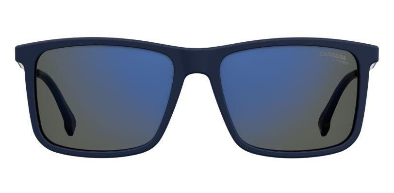 Rectangular admiral blue shades to complete your look.