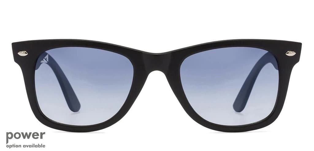 black and ice blue are the most recognizable style for the sunglasses