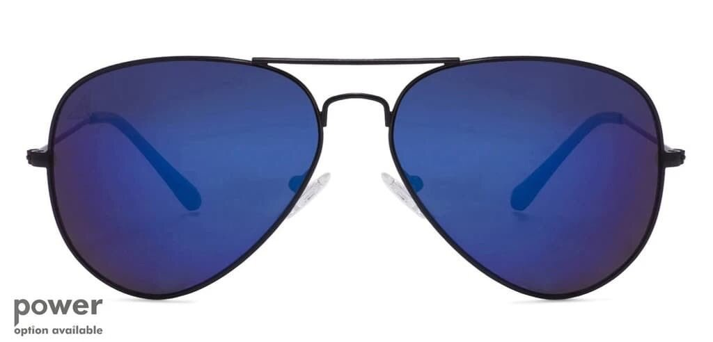The stylish royal blue and antique gold aviators for the modern trend